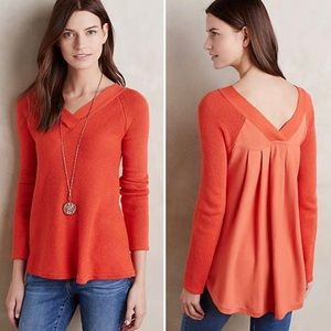Anthro Knitted and Knotted Sweater double v-neck